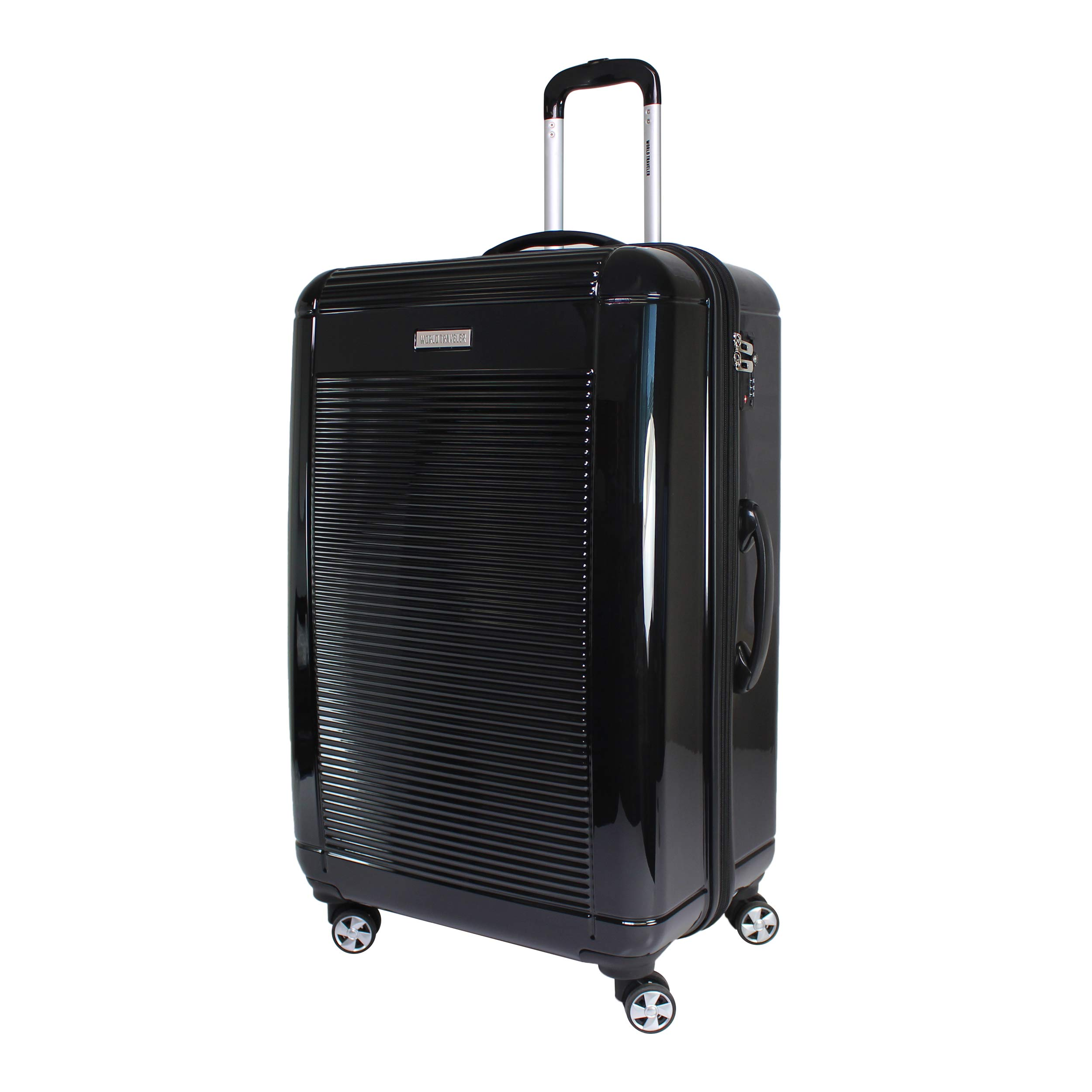 World Traveler Regal Hardside Lightweight Spinner Luggage Suitcase - Black (28-Inch)