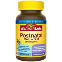 Nature Made Postnatal + DHA Softgels, 60 Count, Support for Breastfeeding Moms†...