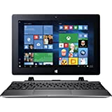 """Acer Switch One 10 2-in-1 Laptop Tablet, 10.1"""" Touchscreen IPS LED Display (1280 x 800), Quad Core Intel Atom X5 Processor, 32 GB SSD, 2GB RAM, HDMI, Bluetooth, Windows 10-Silver"""