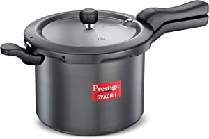 PRESTIGE Svachh Pressure Cooker, Standard, Black