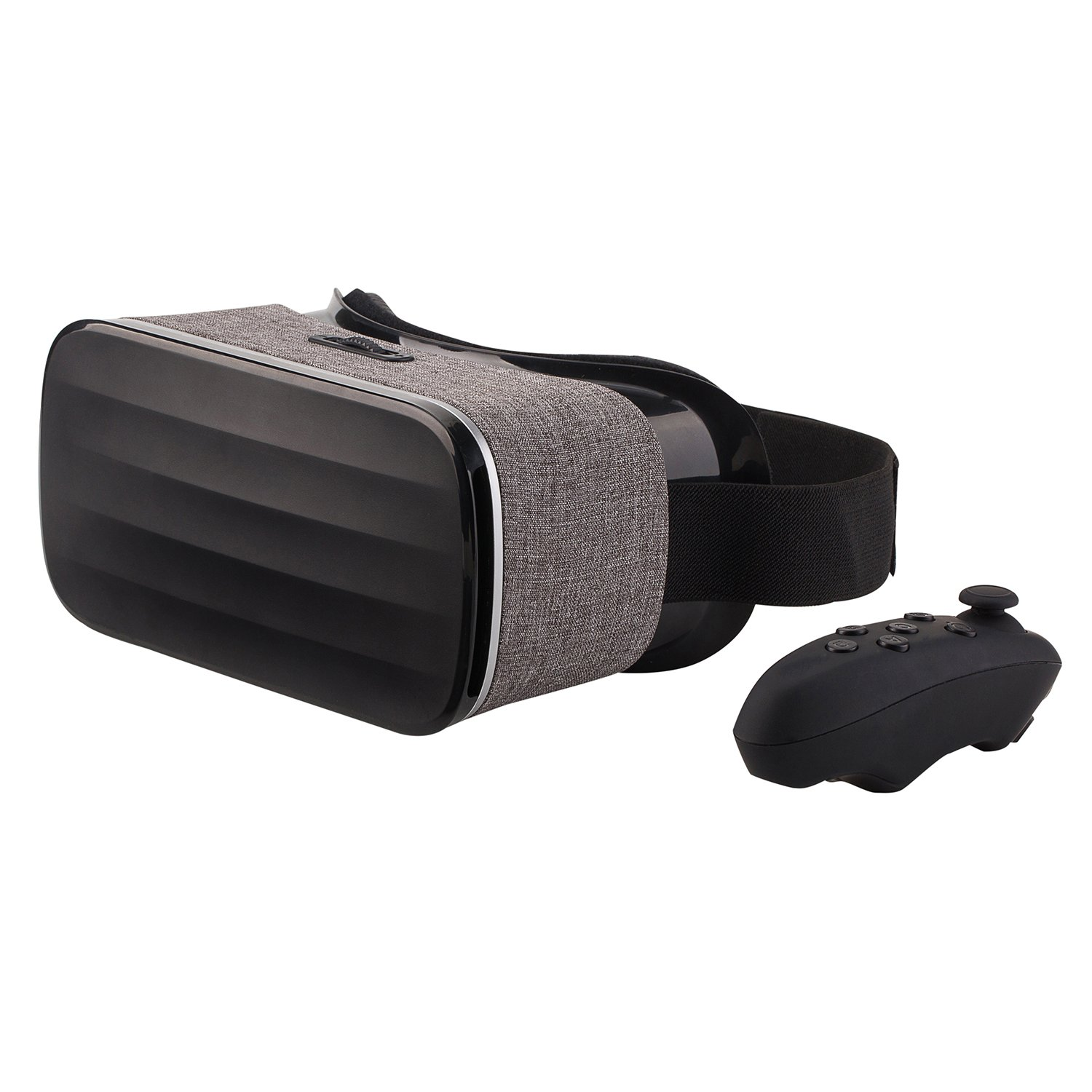 NeuTab VR 2nd Gen Virtual Reality VR Headset 3D Glasses with Remote Controller 360 Degree Immersive Movies and Games for IOS, Android Phones, iPhone X and Other 3.5-6.3 inch Screens