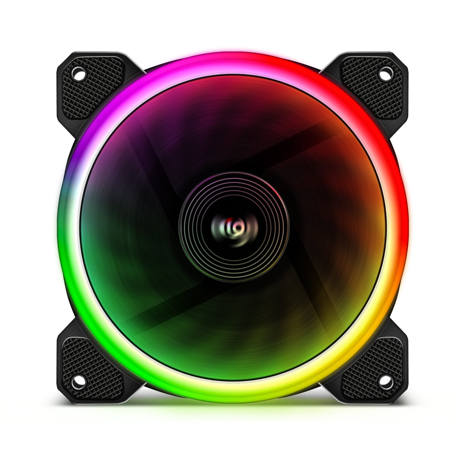 Aigo Aurora DR12 3IN1 Kit Case Fan 3-Pack RGB LED 120mm High Performance High Airflow Adjustable colorful PC CPU Computer Case Cooling Cooler with Controller (DR12 3IN1) by Aigo (Image #7)