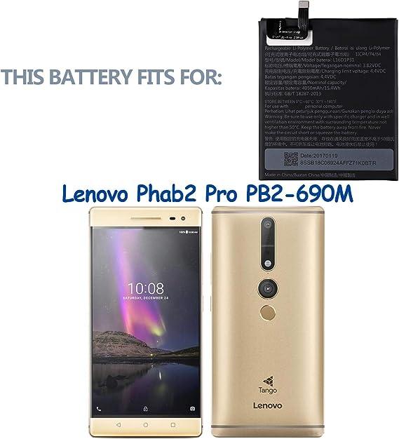 Swark L16D1P31 - Batería de repuesto compatible con Lenovo Phab 2 Pro Phab2 Pro PB2-690N con herramientas: Amazon.es: Electrónica