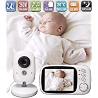 Lullaby Bay Video Baby Monitor with Camera. Anti-Hack Encryption. Wireless Digital 3.2 inch LCD Screen. Night Vision. Temperature Sensor. 2-Way Talk. Long Range. 8 Lullabies. Sound Activation.