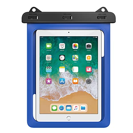 MoKo Waterproof Tablet Case, Tablet Pouch Dry Bag for New iPad 9.7 2018/2017, iPad Pro 9.7, iPad Air 2, iPad 4/3/2, Samasung Tab S4/ S3/ S2/Tab A 9.7, ...