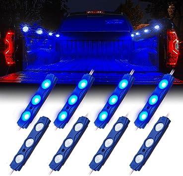 8pcs Waterproof Blue SMD Light for UTV car//car//truck bed led light components