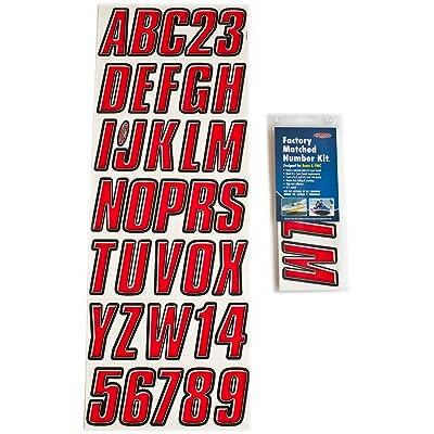 Hardline Products REBLK800 Red/Black Number Factory Matched Registration Kit: Automotive