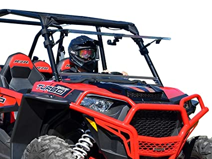 afe87169624e Amazon.com  SuperATV Heavy Duty Scratch Resistant 3-IN-1 Flip Windshield  for Polaris RZR XP 1000   XP 4 1000 (For Ride Command Models) - Has 3  Different ...