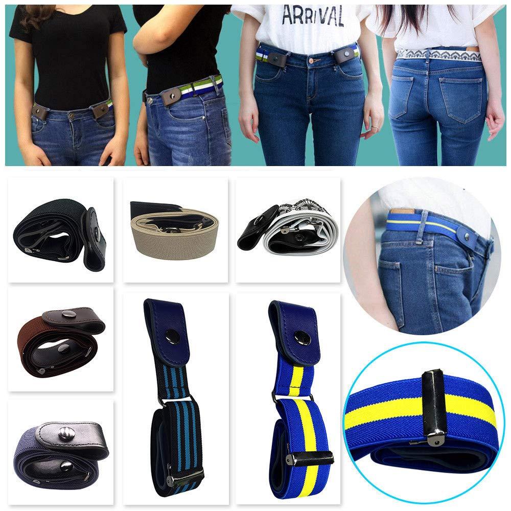 Buckle-Free Elastic Belt Women Men Comfortable Invisible Waist Belt No Bulge No Hassle Slim Fitting for Jeans Short Pants Skirt Dresses (Multicolor) by Codiak-Costume (Image #3)