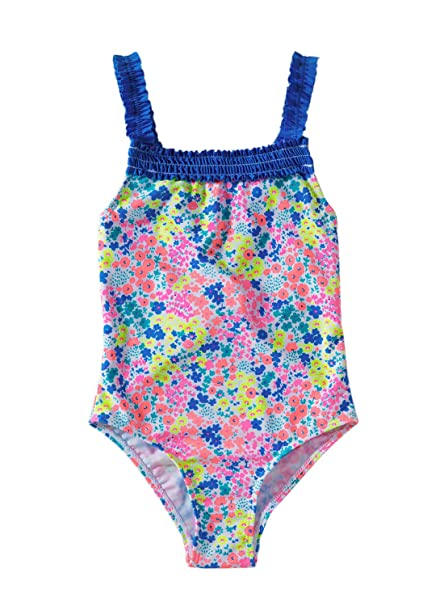TERODACO Little Girls One Piece Swimsuit Hawaiian Ruffle Lovely Cartoon Beach Swimwear Swimpool Bathing Suit Swim Rash Guard