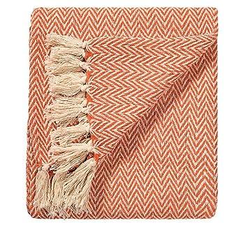 Chevron Soft Cotton Handloom Throw A Fair Trade Blanket.