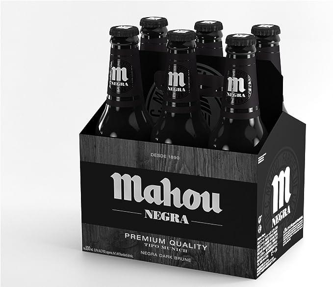 Mahou Cerveza Negra Nacional - Pack de 6 Botellas x 330 ml - Total: 1.98 l: Amazon.es: Alimentación y bebidas
