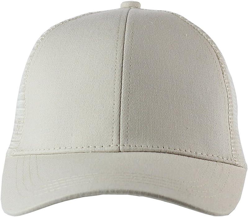 cf68b2eea Ponytail Cap Messy Trucker Ponytail Adjustable Visor Mesh Baseball Cap Hat  Unisex. Back. Double-tap to zoom