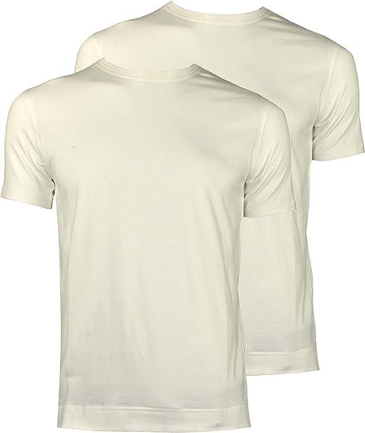 1stAmerican Abanderado Camisetas Interior de Manga Corta Cuello Redondo para Hombre - T-Shirt Stretch Basica de Algodon (Pack de 2): Amazon.es: Ropa y accesorios