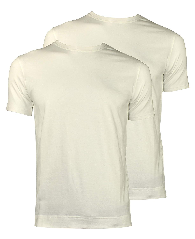 1stAmerican Canotta Intima Elasticizzata da Uomo Mezza Manica T-Shirt Senza Maniche di Cotone Confezione da 2 Pezzi Tinta Unita