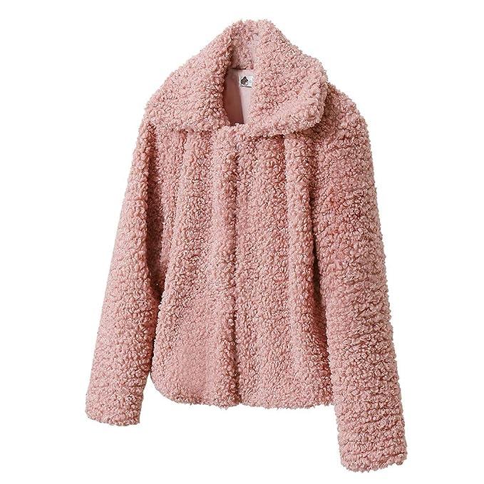 Amazon.com: Chaqueta larga de lana de cordero para mujer ...