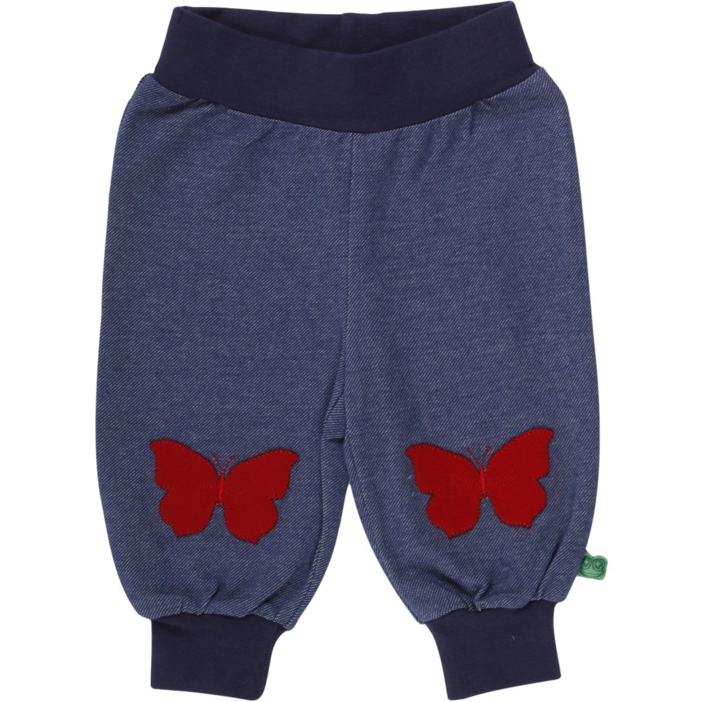 Fred's World by Green Cotton Baby-Mädchen Hose Butterfly Denim Pants 1535037600