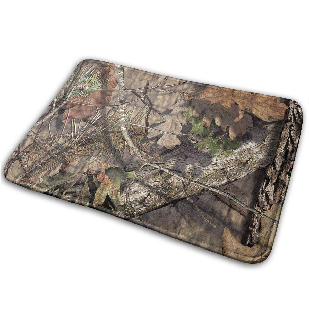 Mossy Oak Camo,Non Slip Machine-Washable Door Mat Home Decor Rug Floor Mat Thicken Playmat Multi-Purpose Floorcover 31.5(L) X 19.7(W) Inch
