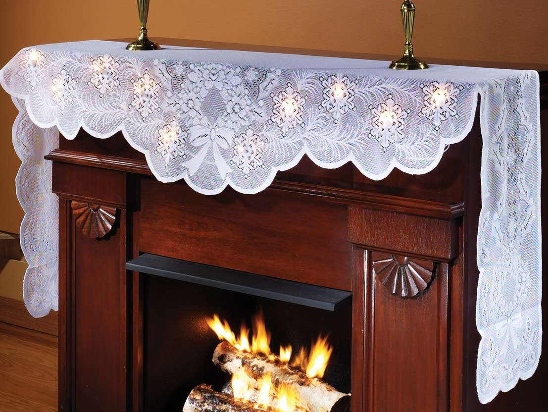 amazon com lighted mantel scarf home u0026 kitchen