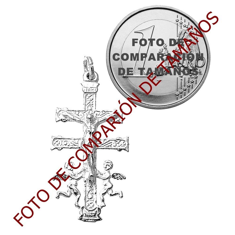 Croix pendentif Loi de 925m de 35mm dargent Caravaca. 7813