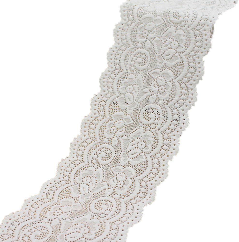 sortierte Muster 0,56 /€//m Home /& Styling Spitzenband wei/ß 3,8 cm x 5 m Dekoband Spitze