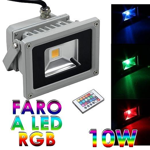 36 opinioni per FARO FARETTO 10W A LED X ESTERNO MULTICOLOR COLORI RGB ILLUMINAZIONE (10 Watts)