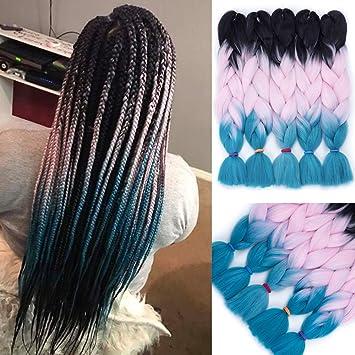Amazon Com Losmoeer Ombre Kanekalon Braiding Hair Extensions 5pcs