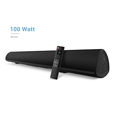 100Watt 40 Inch Soundbar, BYL Sound Bar Wireless and Wired Audio Bluetooth TV Speakers with Learning Function (2018 Beef Up Version, 60 Days Home Trial)