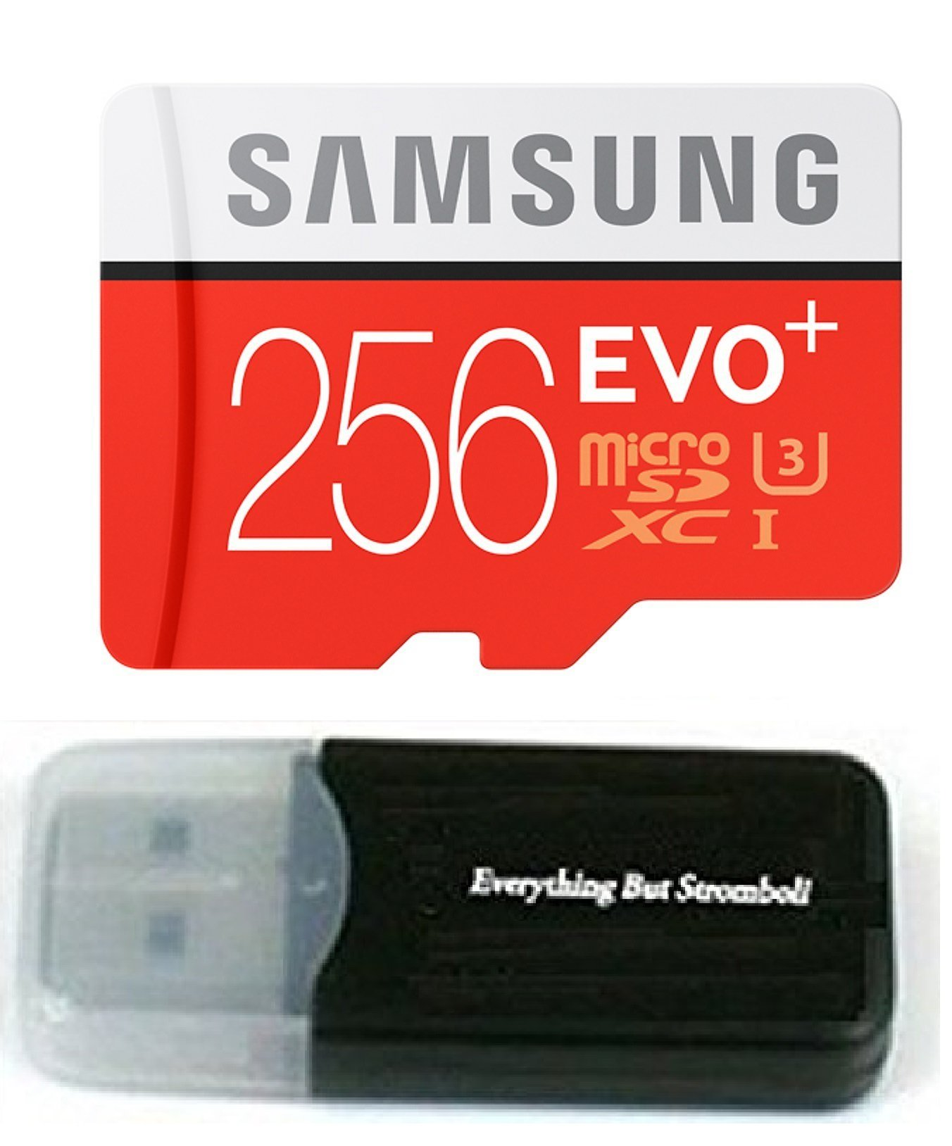 256GB Samsung Evo Plus Micro SD XC Class 10 UHS-1 256G Memory Card for Samsung Galaxy S8, S8+, Note 8, S7, S7 Edge Cell Phone with Everything But Stromboli Card Reader (MB-MC256DA/AM) by Samsung
