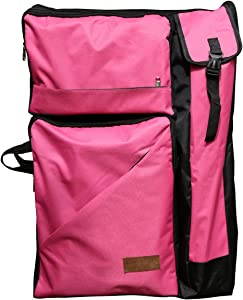 "Artoop Water-resistant Artist Portfolio Backpack Tote Bag for Art Storage and Traveling Size 26""x19"" Pink Color"