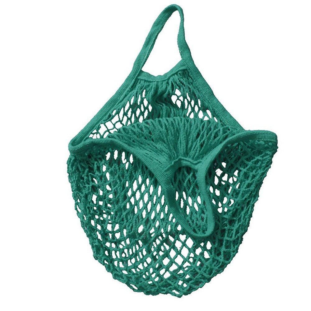 SSYUNO-Home & Garden New Reusable Grocery Bags Mesh Net Turtle Bag String Fruit Storage Handbag Totes Heavy Duty Washable Shopping Bags