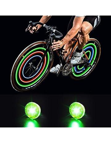 2X Luz LED Rueda Bici Bicicleta Ciclismo Azul 3 Modos Flash