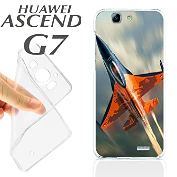 J121 HUAWEI ASCEND G7 GEL CARCASA FUNDA TPU AVION A REACCION ...