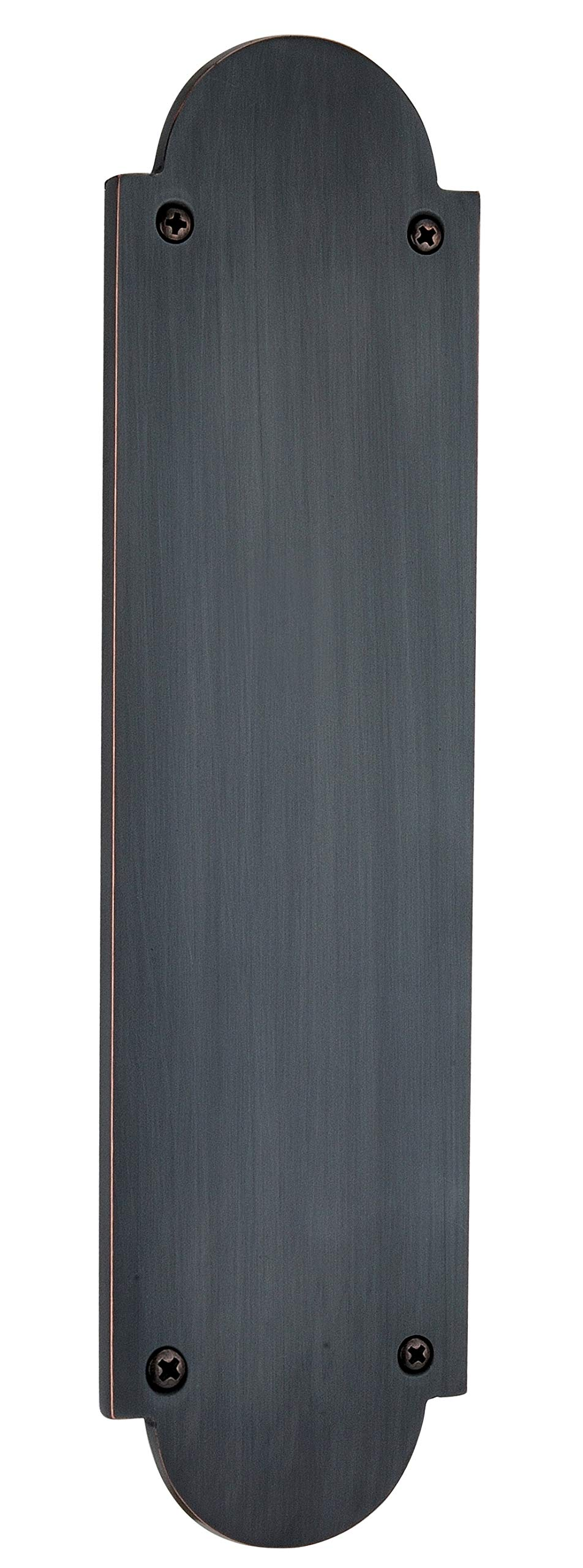 Knoxx Hardware Traditional Push Plate -3'' x 12'', Oil Rubbed Bronze