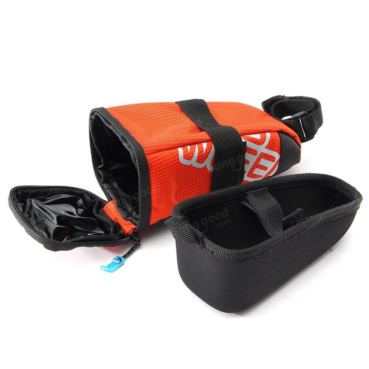 ROSWHEEL Bike Bicycle Saddle Bag Back Seat Tail Pouch EVA Cycling Bag Seatpost ( Orange )