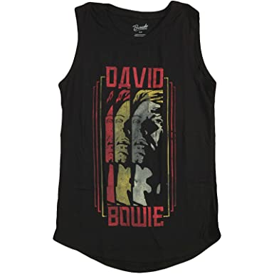 eeaff6ffb7 Amazon.com  David Bowie Women s Triple Bowie Womens Tank X-Small ...