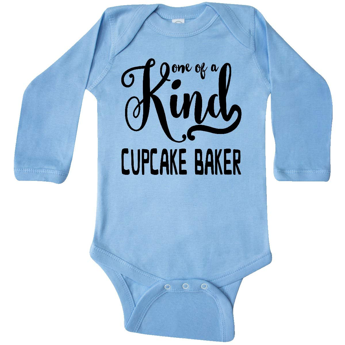 inktastic Gift for Cupcake Baker 1 of Long Sleeve Creeper Newborn Light Blue by inktastic