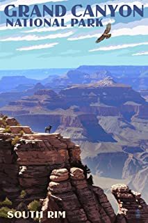 product image for Grand Canyon National Park, Arizona - South Rim (12x18 Art Print, Wall Decor Travel Poster)