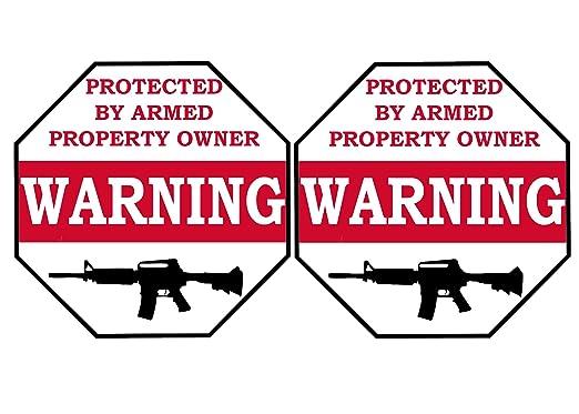 No Trespassing Warning seguridad adhesivo protegido por ...