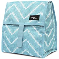 PackIt Freezable Lunch Bag with Zip Closure, Aqua Tie Dye,AMZ-PC-ATD