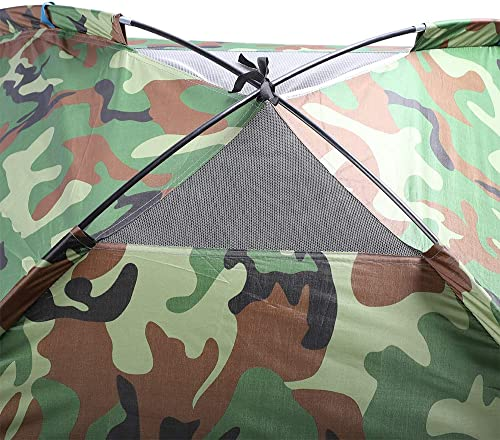 3-4 Person Camping Dome Tent Camouflage Spacious, Lightweight, Heavy Duty Weather and Flame Resistant Outdoor Hiking Gear Fast, Easy Setup