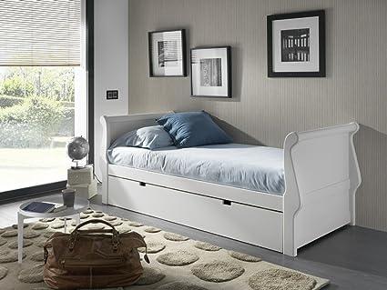 Venta-Muebles - Cama nido gondola 105 x 190 lacado blanco: Amazon.es ...