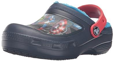 10479c036c3a9 Amazon.com | Crocs Kids' Marvel's Avengers Lined Clog | Clogs & Mules