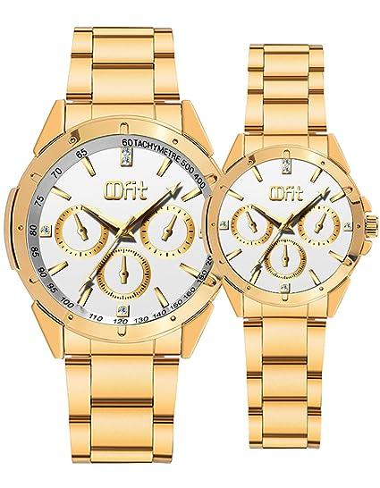 Su y para ella Relojes, oro acero inoxidable reloj aniversario regalos: Amazon.es: Relojes