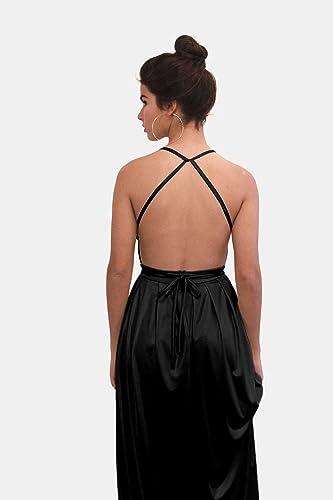 Amazon Black Evening Dress Maxi Long Dress For Bridesmaid