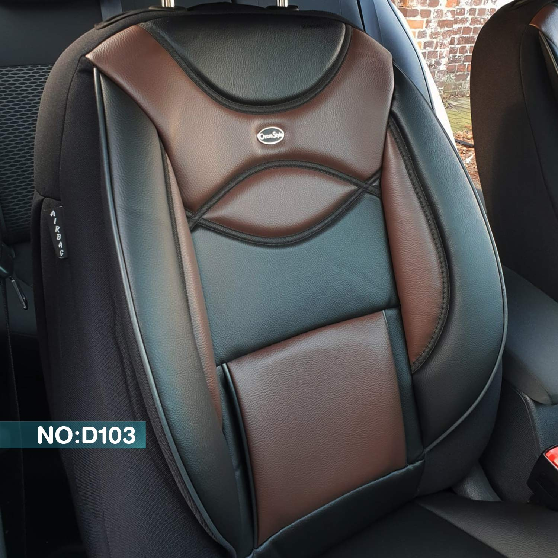 D103 Fahrer /& Beifahrer ab BJ 2018 Farbnummer Gen Ma/ß Sitzbez/üge kompatibel mit Dacia Duster 2