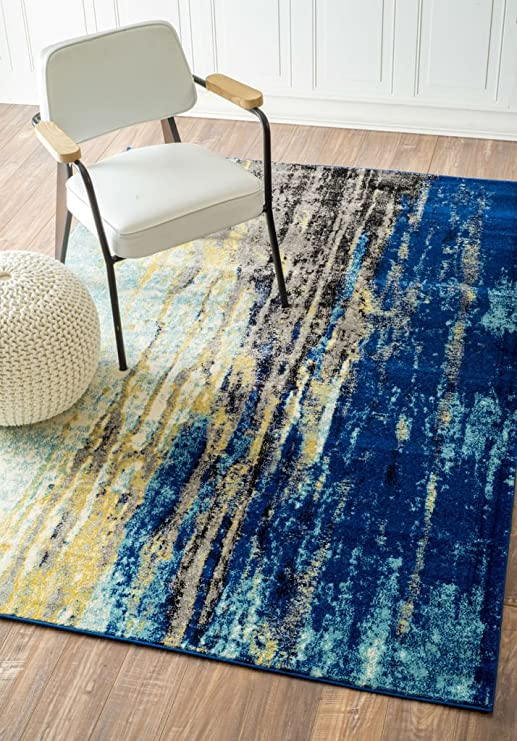 Nuloom Waterfall Vintage Abstract Area Rug 5 X 7 5 Blue Amazon Ca Home Kitchen