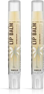 product image for SKINNY & CO. Calming Vanilla Lip Balm- Made with Coconut Oil & Beeswax, Retains Moisture, Protects from Sun Damage, Hydrates Chapped Lips, Reduces Fine Lines, Paraben/Sulfate Free, 0.1 oz. (2 Pack)