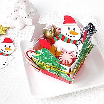 💕 Navidad Bebe, 🌸 Zolimx 50X Santa Claus Pingüino Lollipop Tarjeta de Navidad Polo Sugar-Pan Xmas Party Juguetes (C): Amazon.es: Hogar