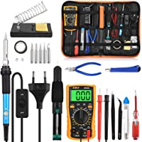 GBlife Kit de Soudage Electronique 60W Fer à Souder Haute Précision avec régulateur de température 200°C-450°C pour Diverses Usages